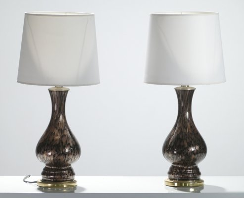Italian mid-century Murano glass lamps by Vincenzo Nason, 1960s