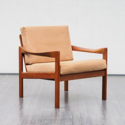 1960s Danish teak armchair by Illum Wikkelso for Niels Eilersen, 1960s