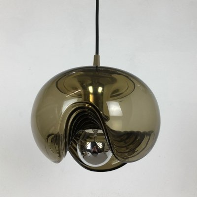1970s Wave Hanging Light by Peill & Putzler, Germany