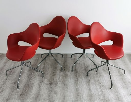 Set of 4 Soft-P Arm Chairs by Fabio di Bartolomei for IMS Italia, 1990's