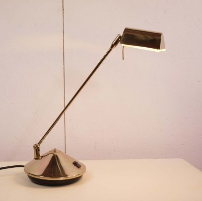 Fase Brass Plated Cone Lamp, 1970's