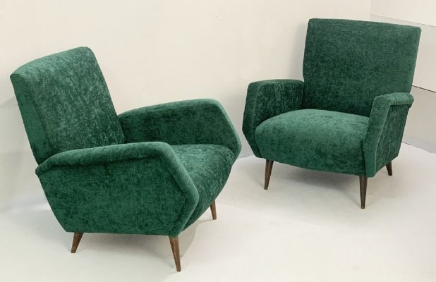Pair of Gio Ponti Armchairs Model 803 for Cassina, Italy 1954