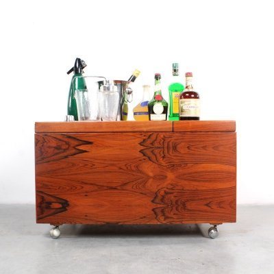 Dry bar coffee table by Poul Nørreklit, 1960s