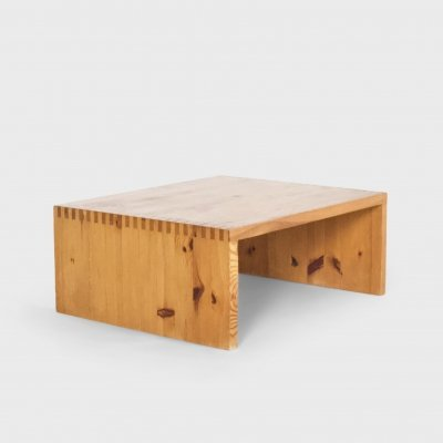 Coffee Table by Ate Van Apeldoorn in Solid Pine, Netherlands 1970s