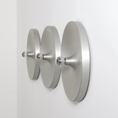 6 Large Aluminum Sconces used by Charlotte Perriand in Les Arcs France, 1970s