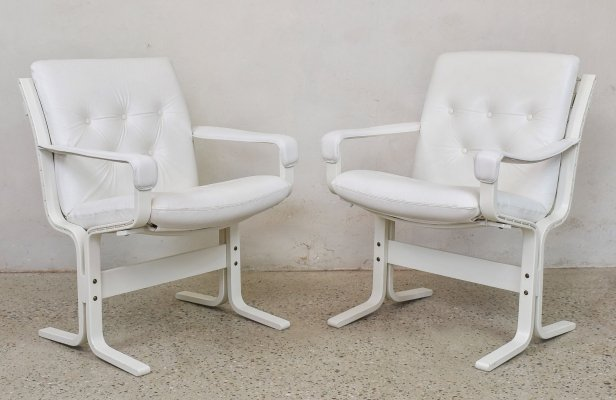 White Safari Chairs by Ingmar Relling for Westnofa