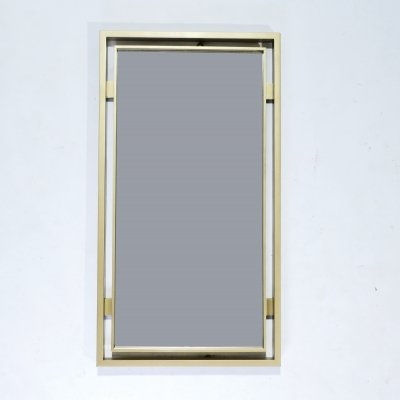 Brass mirror by Guy Lefevre for Maison Jansen, 1970s