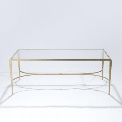 Maison Ramsay gilt wrought iron coffee table, 1960s
