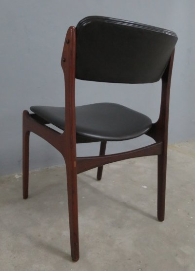 Erik Buck Model 49 Danish leather chair for O.D. Møbler, 1960s