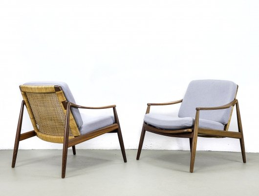 Set of 2 Mod. 400 Lounge Chairs by Hartmut Lohmeyer for Wilkhahn, 1950s