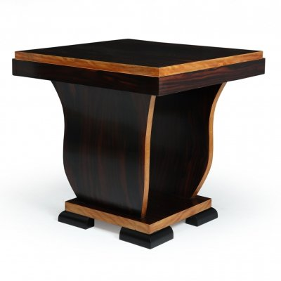 Art Deco Occasional Table in Macassar Ebony