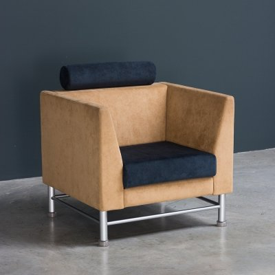 Ettore Sottsass Eastside lounge chair by Knoll, Postmodernism 1980