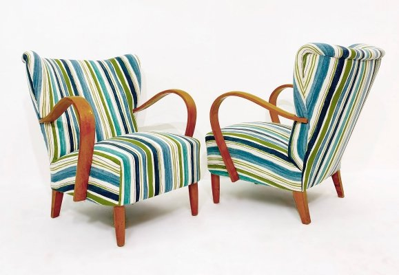 Pair of Mid Century Armchairs, Italy 1950's
