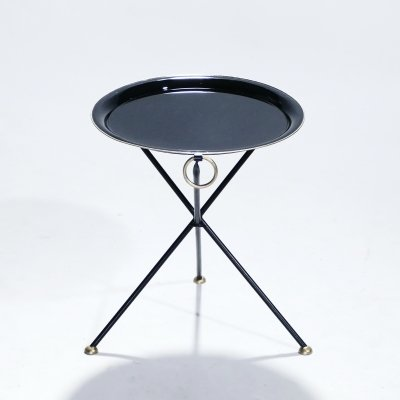 Signed Christian Dior folding side table, 1970's