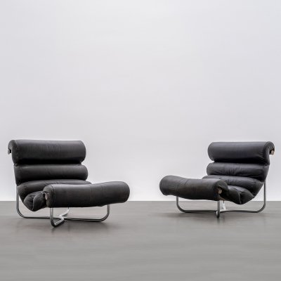 Pair of Glasgow chairs by Georges van Rijck for Beaufort
