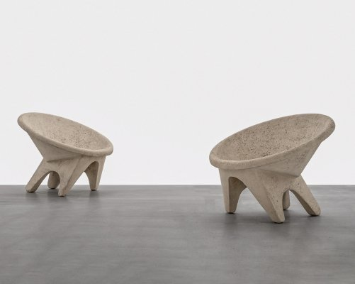 Concrete 'Sphere' chairs, Italy 1960's