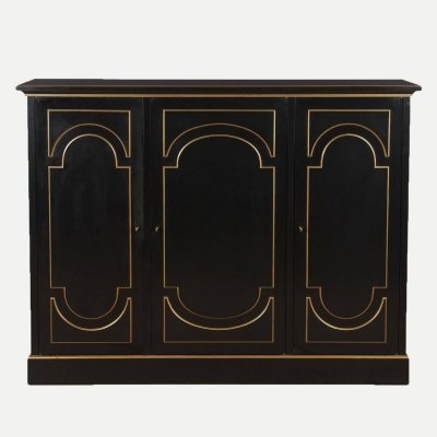 French Neoclassical Maurice Hirsch cabinet, 1950s