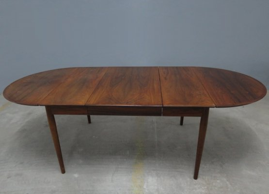 Vintage Rosewood Extendable Dining Table by Arne Vodder for Sibast