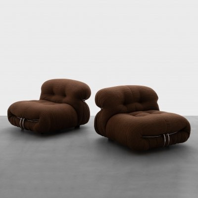 Soriana Lounge Chairs by Afra & Tobia Scarpa, 1960s