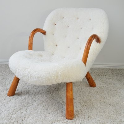 Philip Arctander 'Muslingestolen' Clam Chair, 1940's