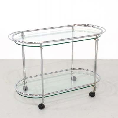 Vintage serving trolley, 1980s