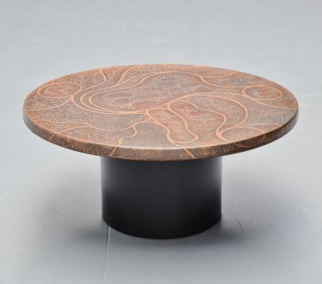 Heinz Lillienthal copper coffee table, Germany 1970
