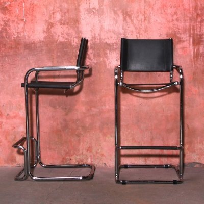 Set of Vintage Cantilever Bar Stools, 1970s