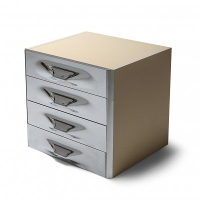 Raymond Loewy Chrome Drawer Chest, 1960's