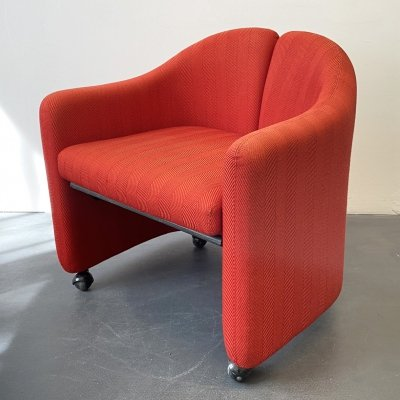 Red PS142 Armchair by Eugenio Gerli for Tecno Italy, 1960s