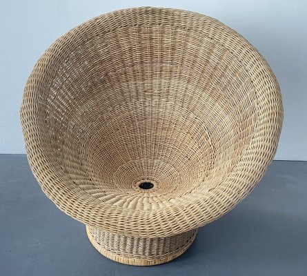 Mid Century E10 Wicker Lounge Chair by Egon Eiermann, 1950s