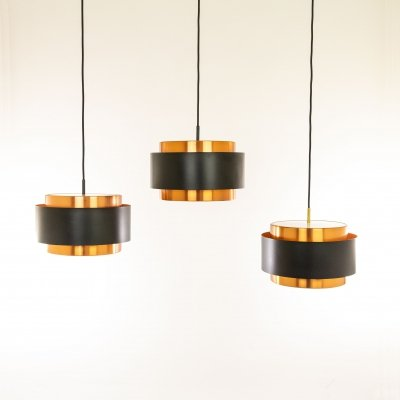 Set of three Saturn pendants by Jo Hammerborg for Fog & Mørup