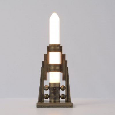 Art Deco Candlestick Table Lamp, 1920s