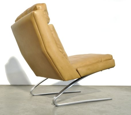 Leather swing chair by Reinhold Adolf & Hans Jürgen Schröpfer for COR Sitzmöbel