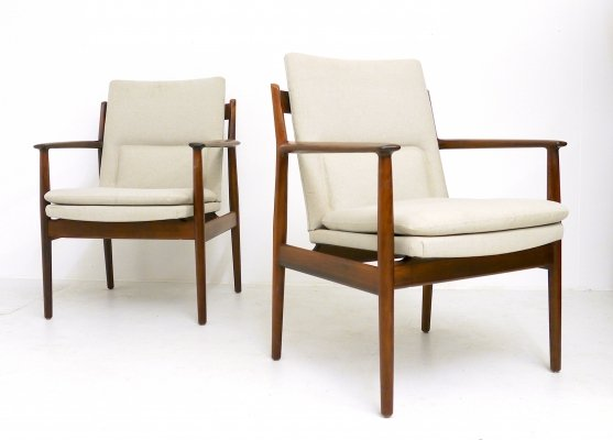 Pair of Arne Vodder Palisander Arm Chairs Model 431, 1960s