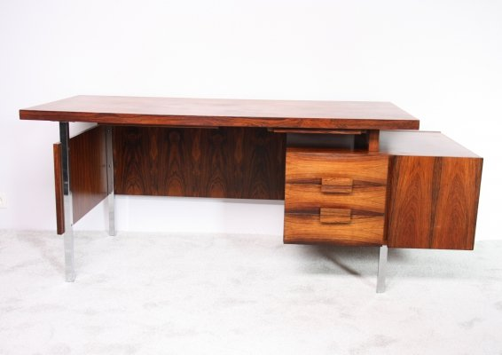 Desk in rio rosewood with 2 cabinets, Germany 1950's