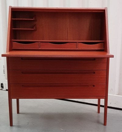 Teak Secretaire by Kai Kristiansen for Tørring Møbelfabrik, 1960s