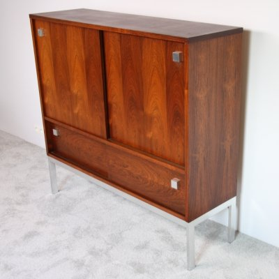 Highboard in rosewood with bar by Alfred Hendrickx for Belform, Belgium 1960's