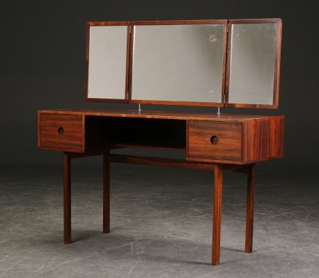 Aksel Kjærsgaard Palisander Vanity Table Desk, 1960s