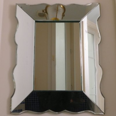 Small french art deco mirror, 1940s