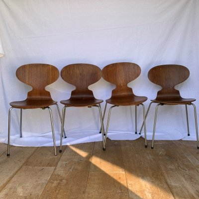 Set of 4 Ant Chairs by Arne Jacobsen for Fritz Hansen, 1960s