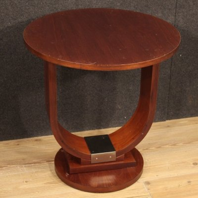 20th Century Mahogany & Fruitwood Italian Design Coffee Table, 1970