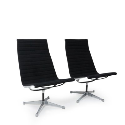 Pair of Eames Alu Group Lounge Chairs, 1970s