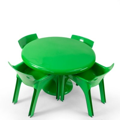 Chairs & Table by Vico Magistretti for Artemide, 1960s