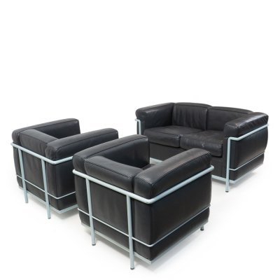LC2 Lounge Set by Le Corbusier for Cassina, 1980s