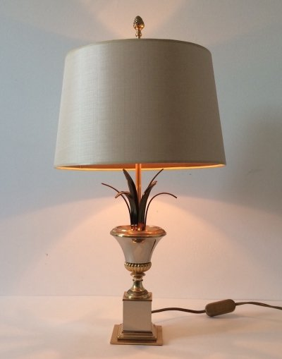 Hollywood Regency Style Palmier Table Lamp by Boulanger, Belgium 1970's
