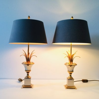 Set of 2 Palmier Table Lamps by Boulanger, 1970's