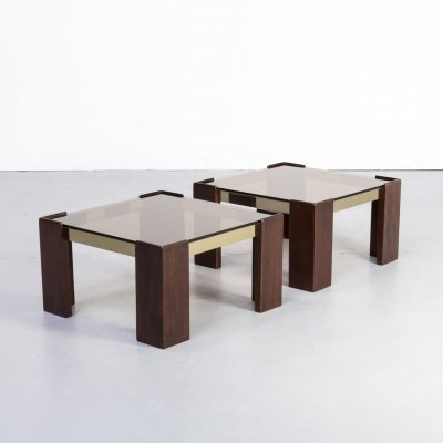 Pair of Ronald Schmitt side tables / coffee tables, 1970s