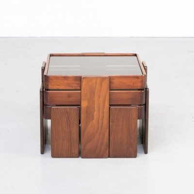60s Gianfranco Frattini stackable nesting tables for Cassina