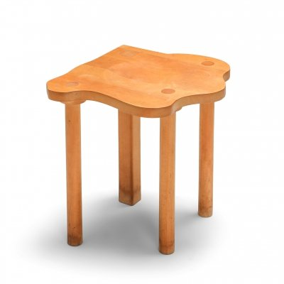 Wood stool by E.R.A. Herbst, 1990