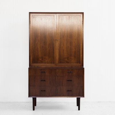 Midcentury Danish higher cabinet in rosewood by Lyby Møbler, 1960s